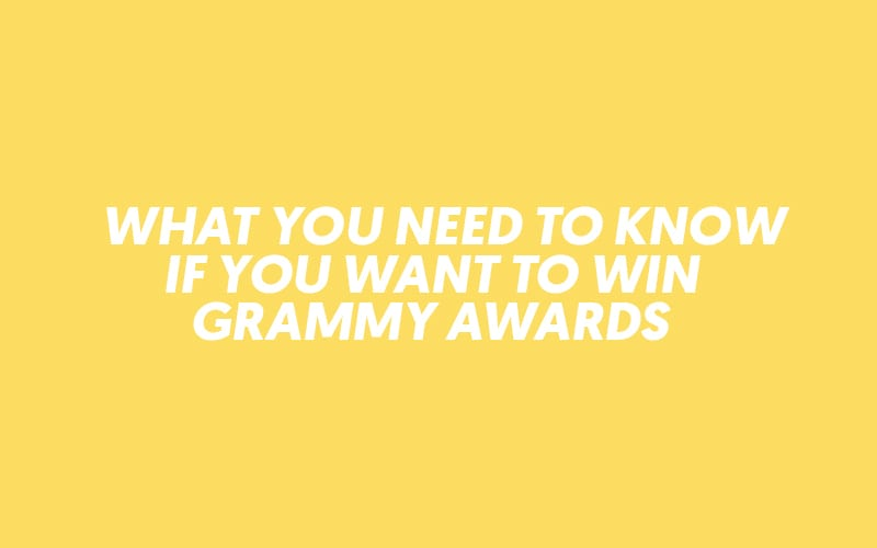 how to win a grammy award - lost stories academy